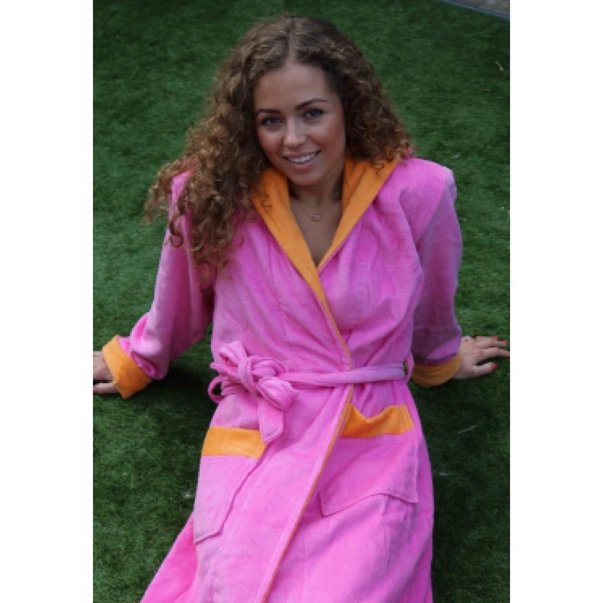 Roze dames-badjas