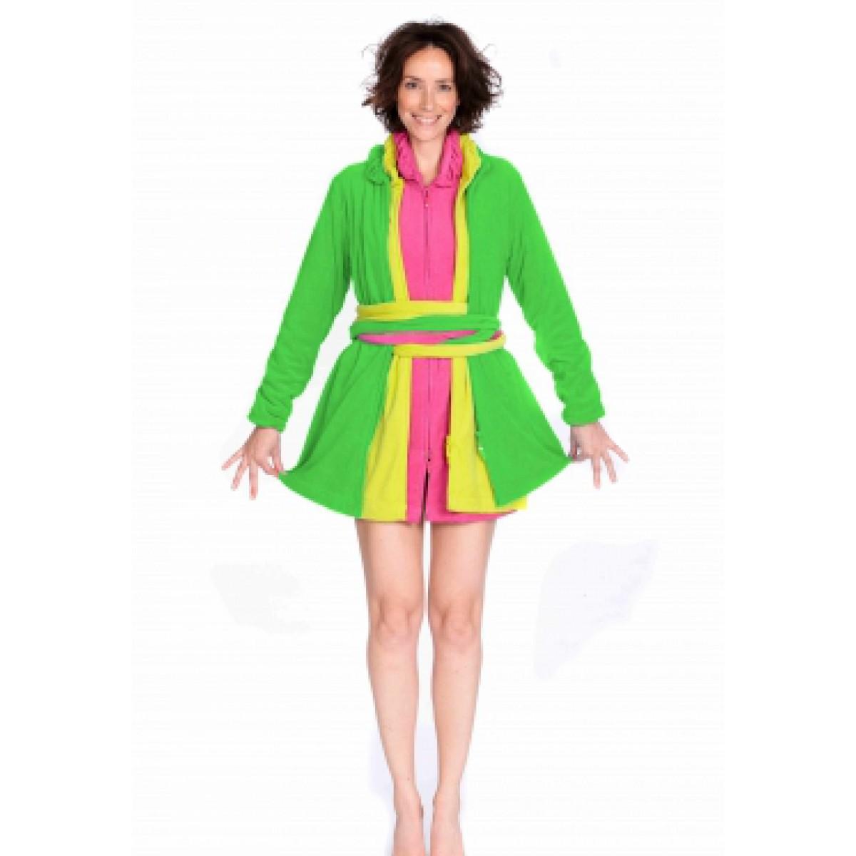 Groene badjas Woody