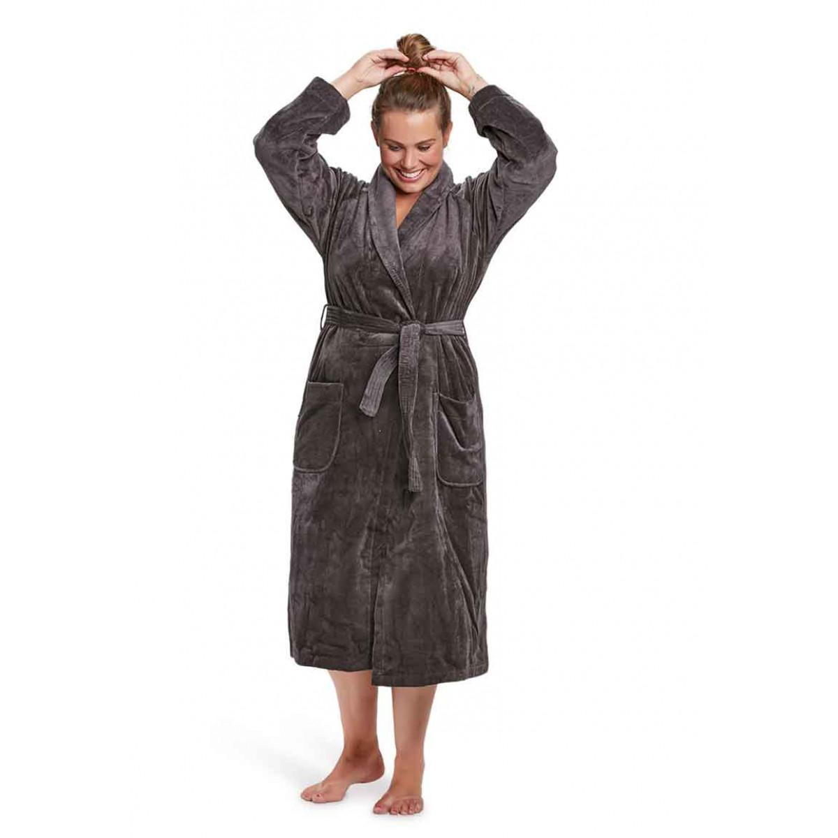antraciet badjas dames badrock