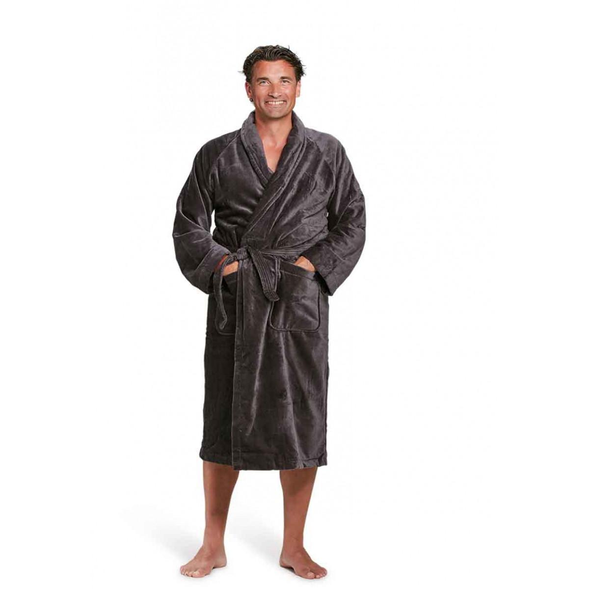 antraciet badjas heren badrock