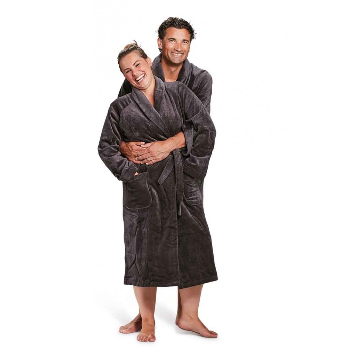 badjas antraciet badrock