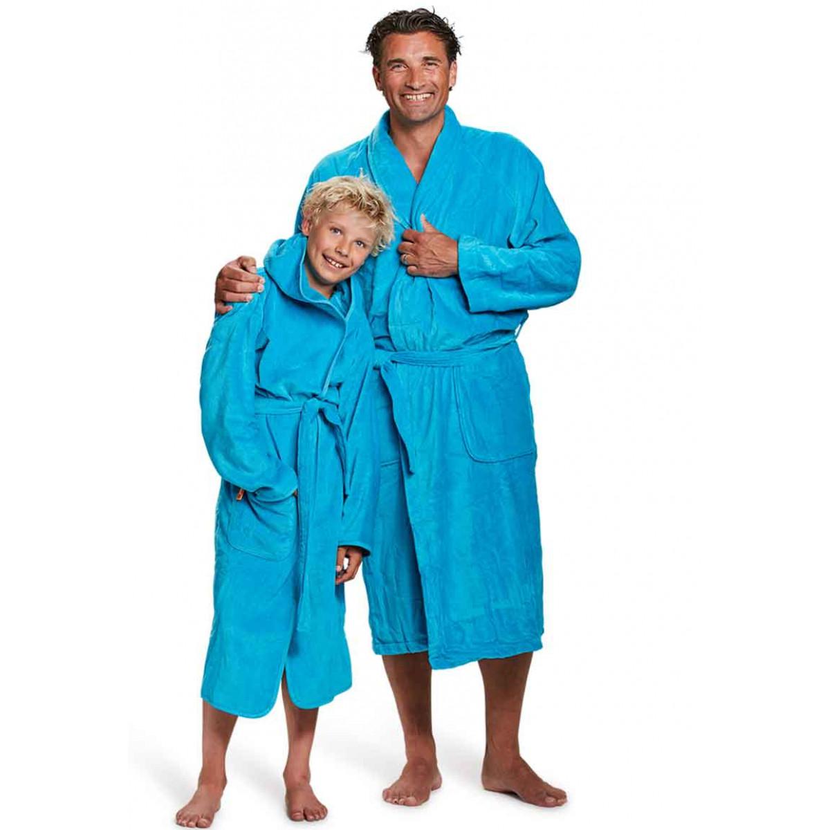 badjas heren aquablauw badrock