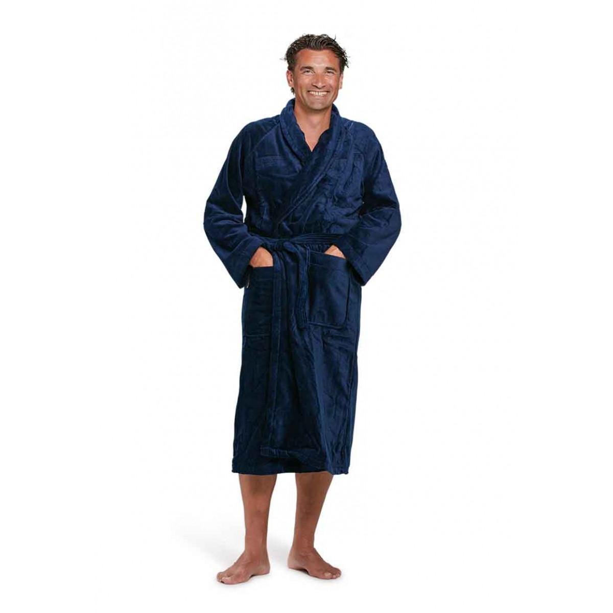 badjas heren marineblauw badrock
