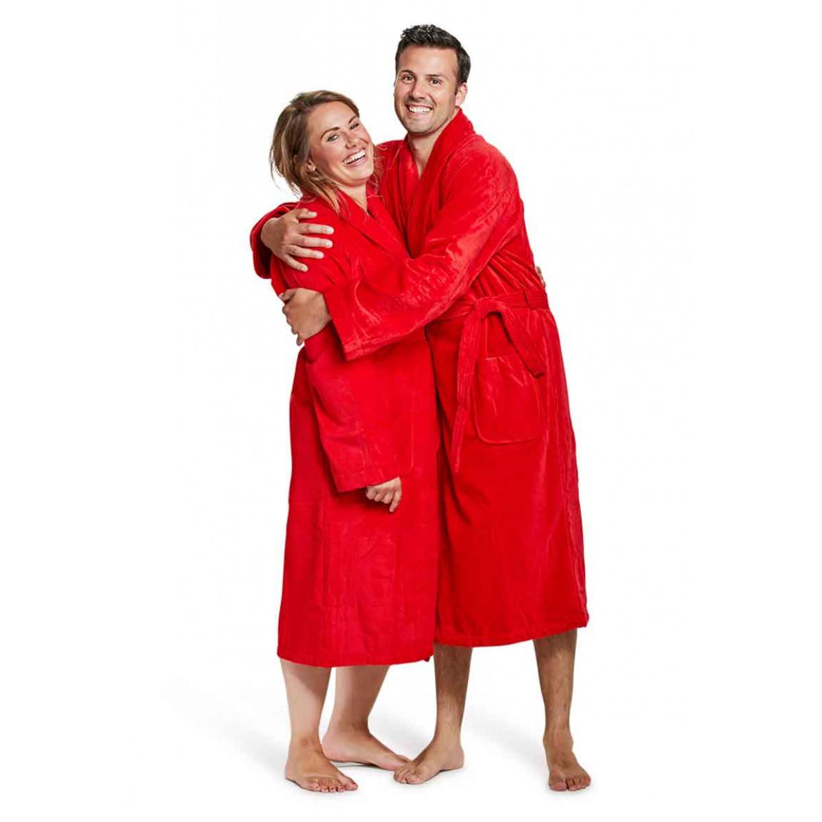 Badrock badjassen unisex rood