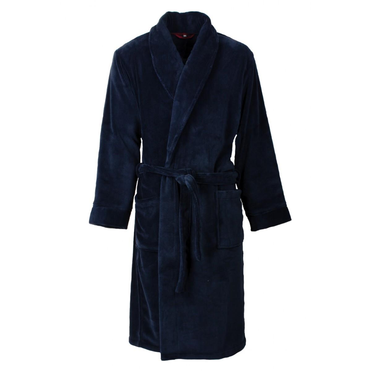 Heren badjas blauw