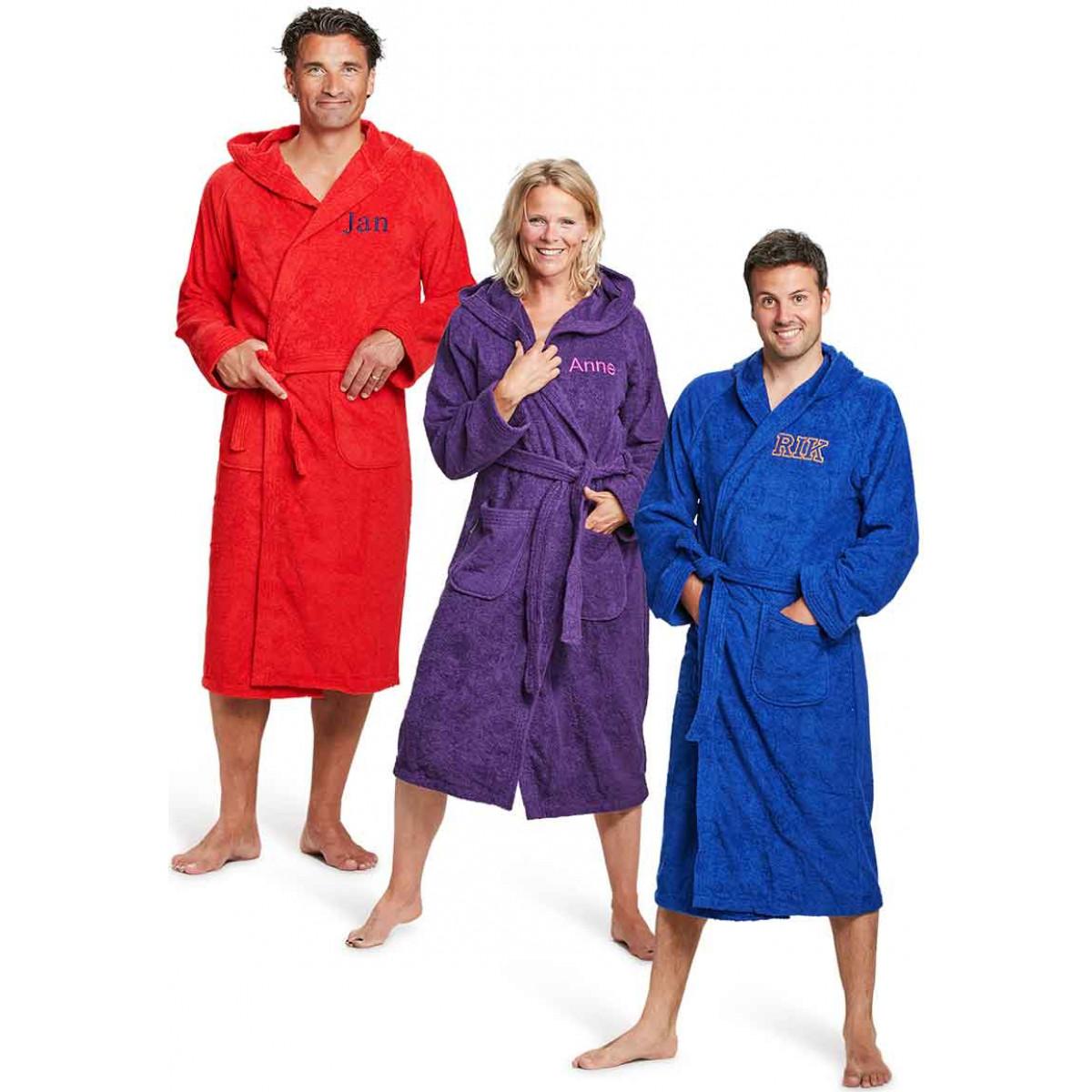 borstborduring op badjas