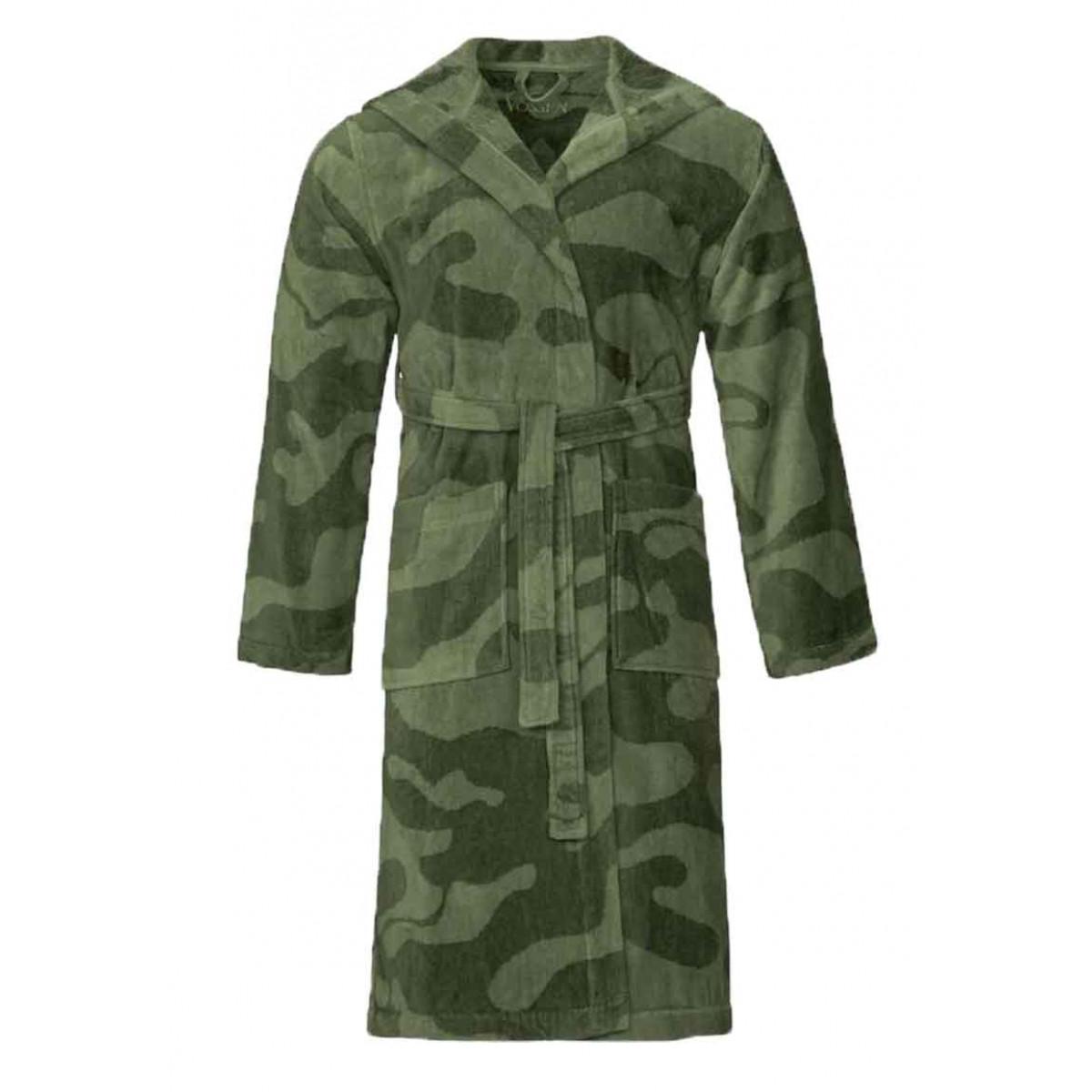 Legerprint badjas groen - unisex