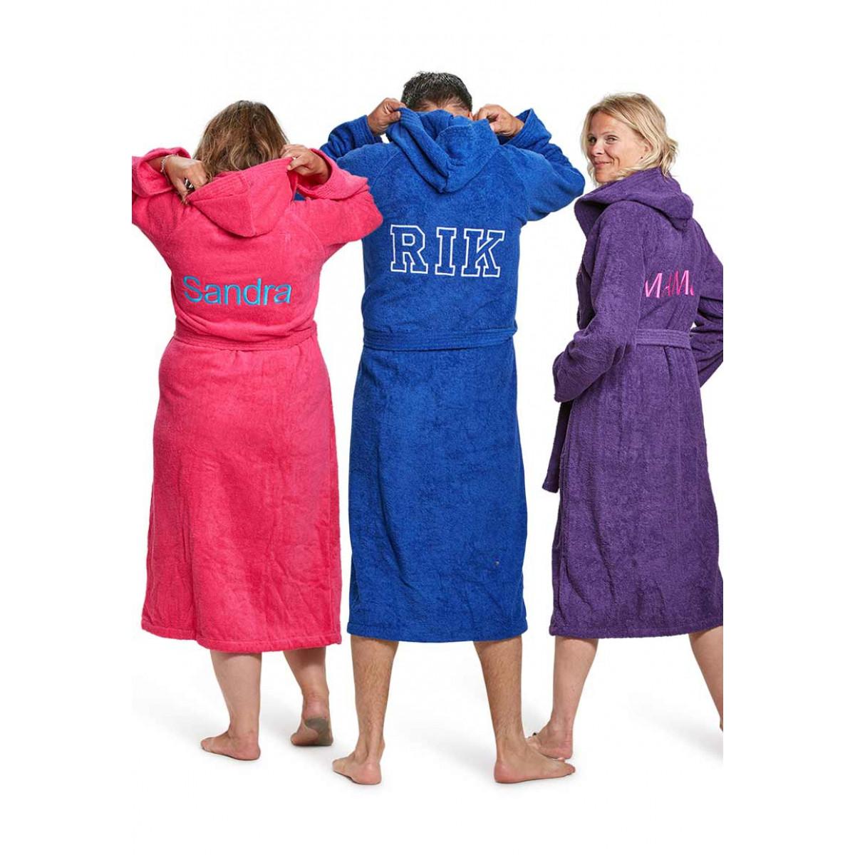 Capuchon badjas borduren