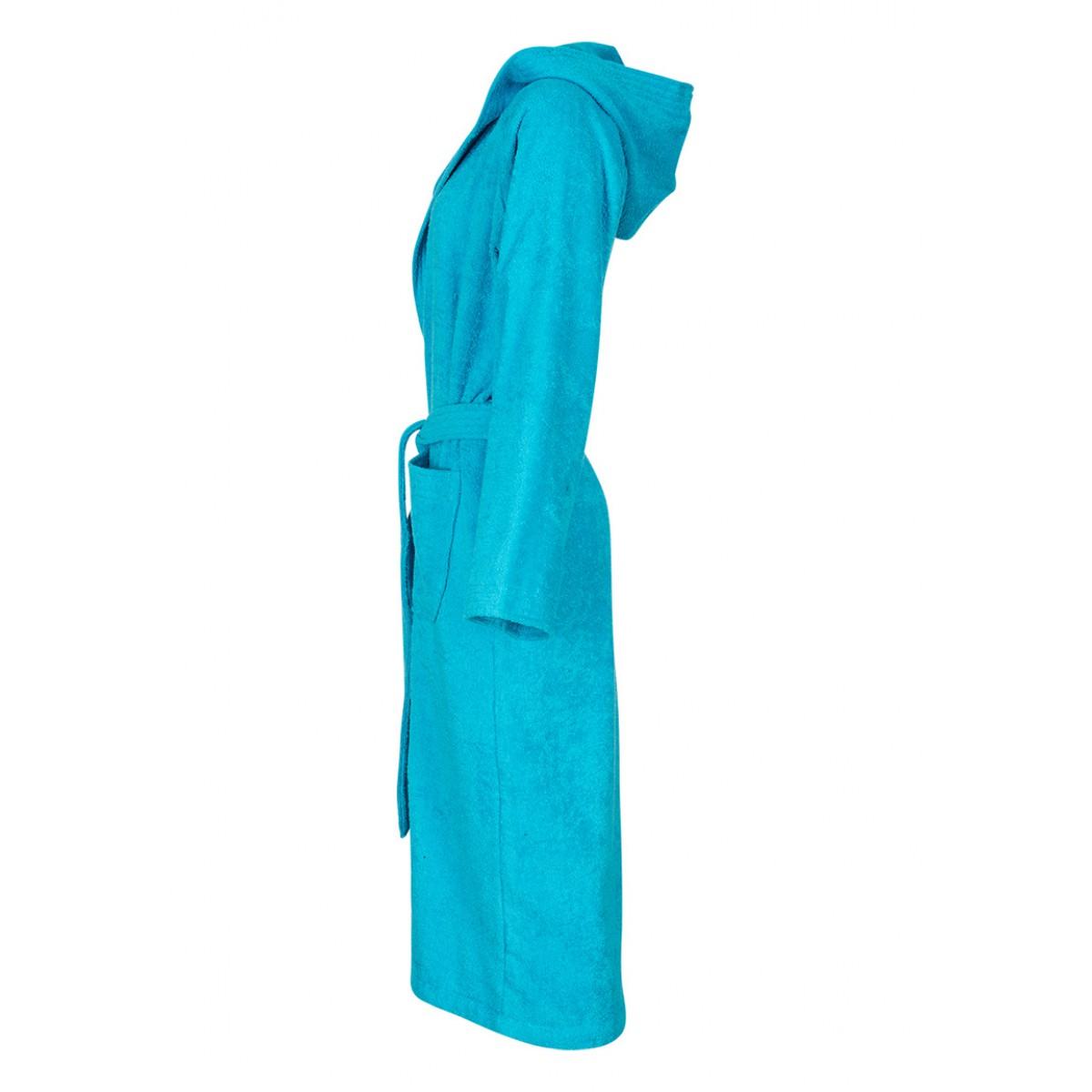 Aquablauwe saunabadjas