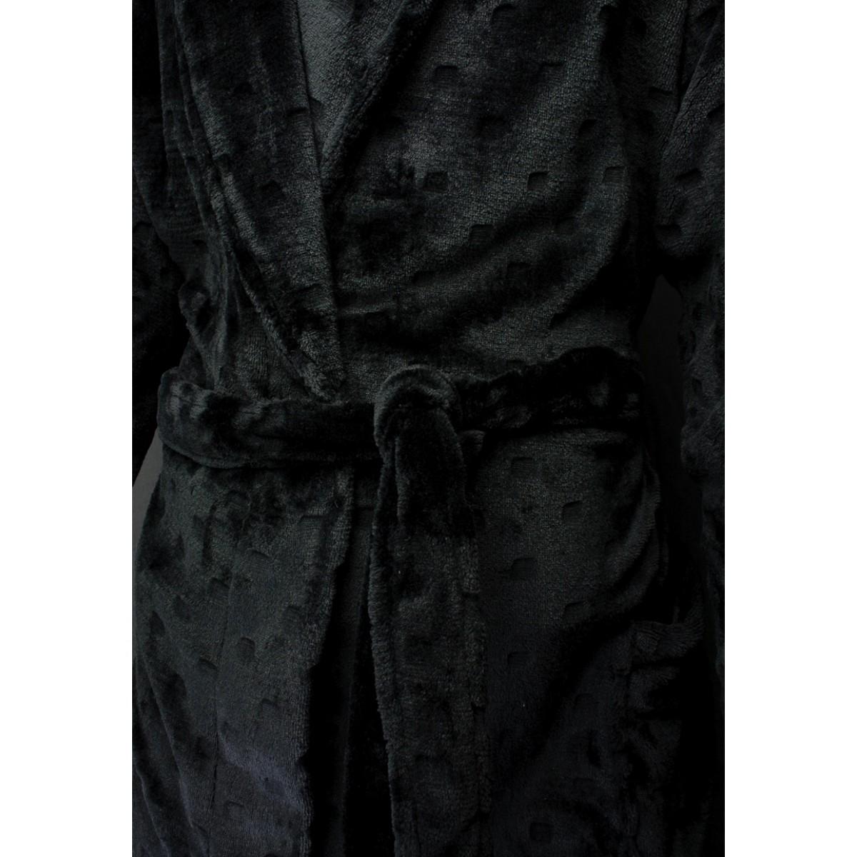 detail badjas zwart