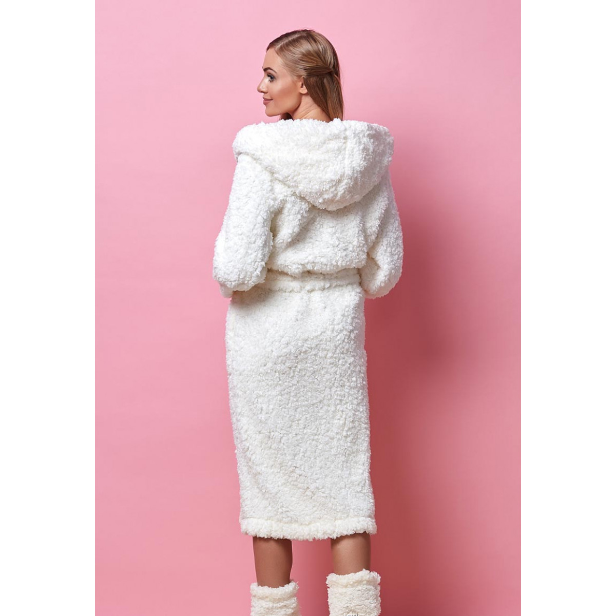 Dikke fleece badjas dames