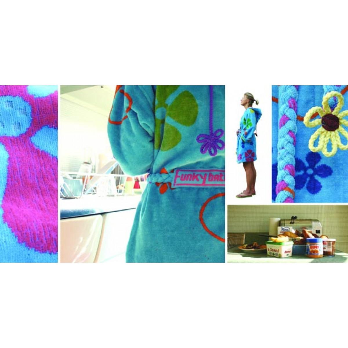 blauwe badjas dames
