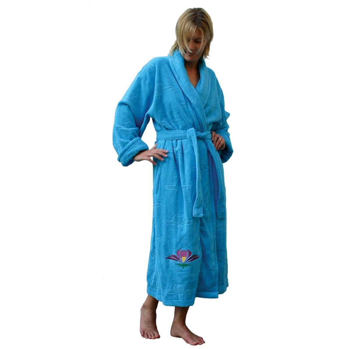 Funky badjas azuurblauw