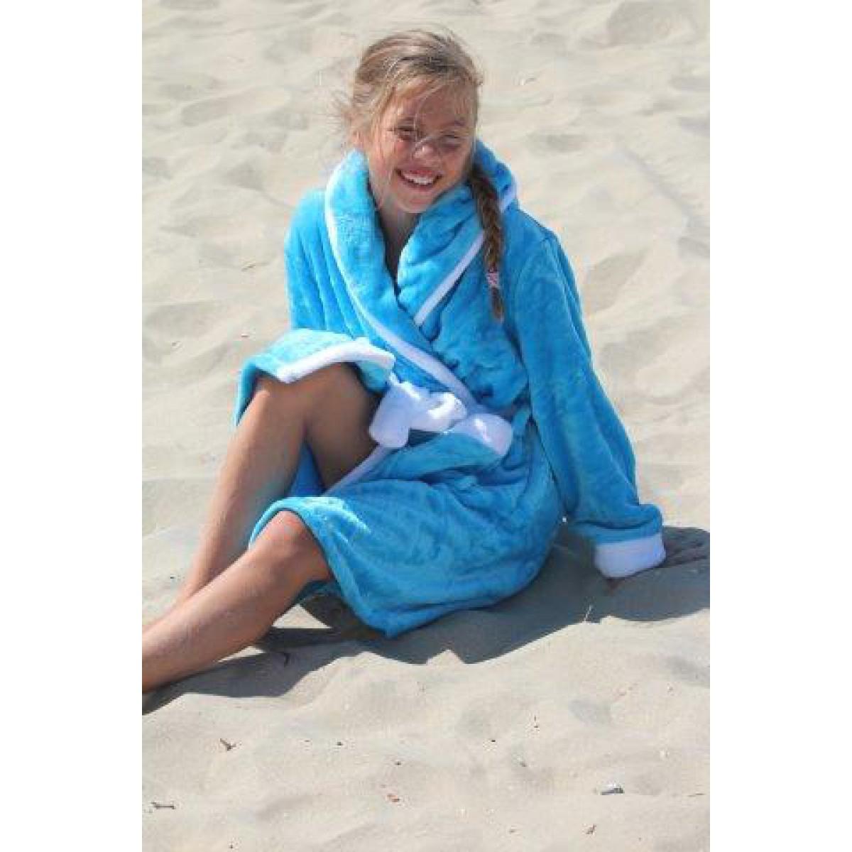Kinderbadjassen met capuchon
