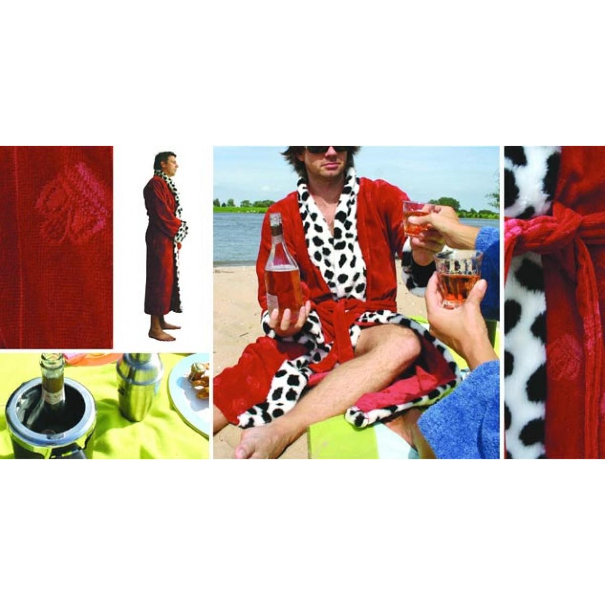 Funky badjas rood