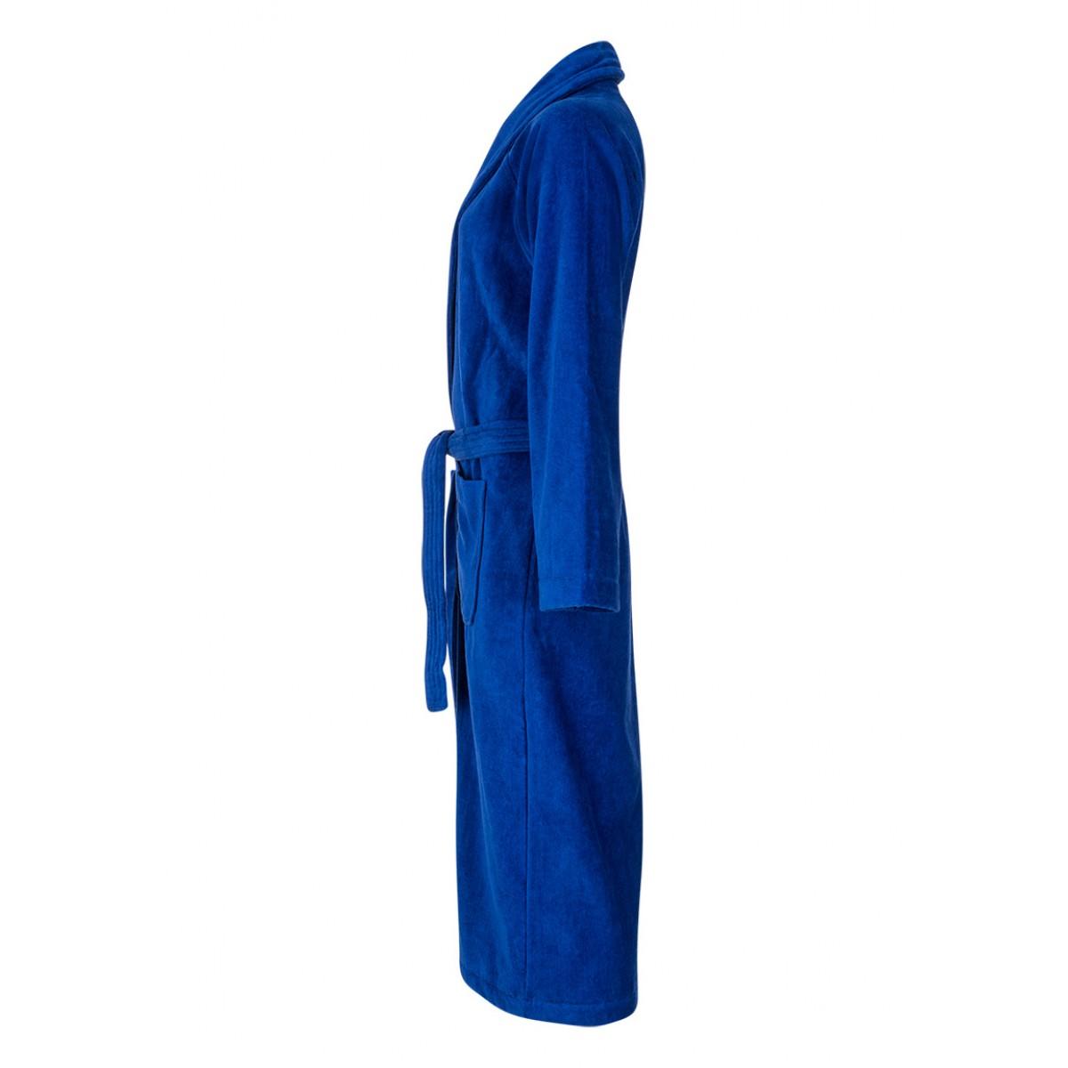 sauna badjas blauw