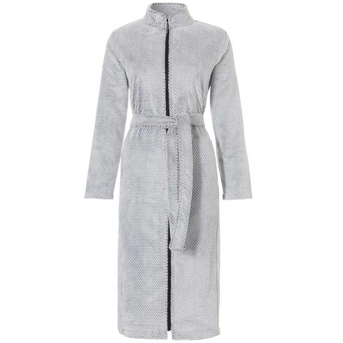 Fleece badjas met ritssluiting