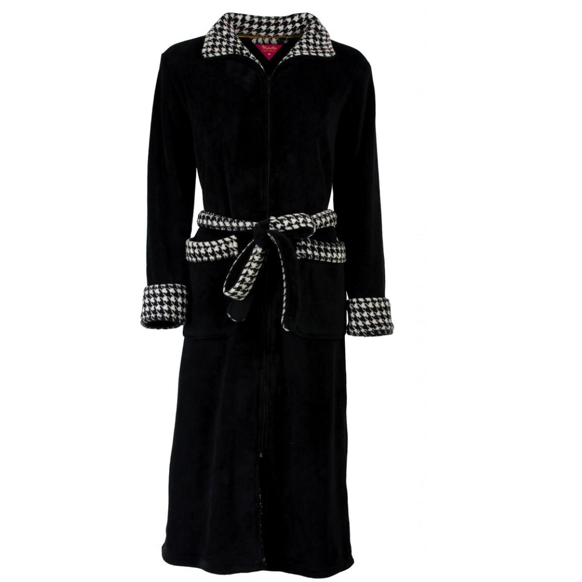 zwarte badjas met rits