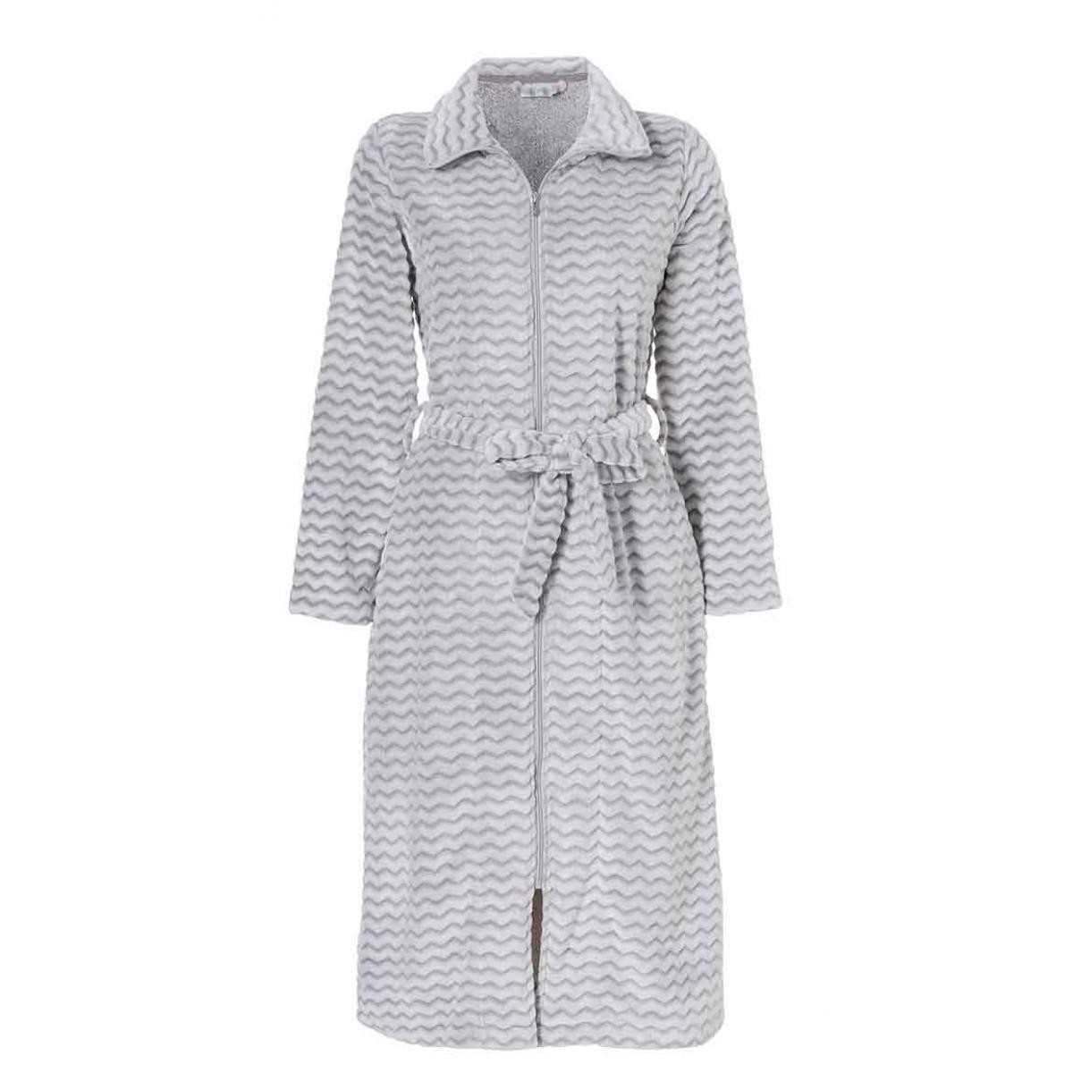 Fleece badjas met rits - lang model badjas
