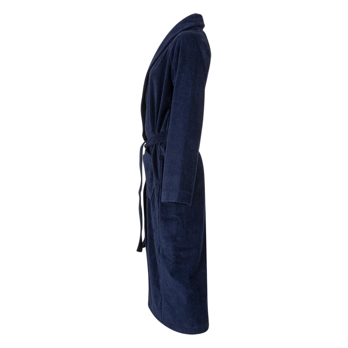 Donkerblauwe saunabadjas