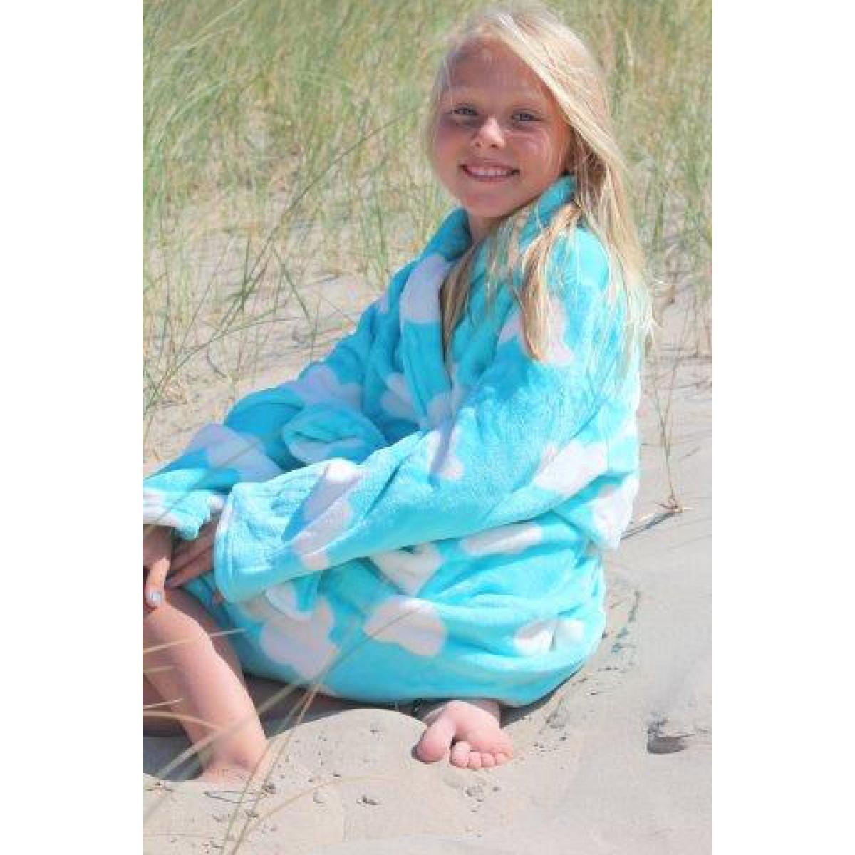 kinderbadjas turquoise
