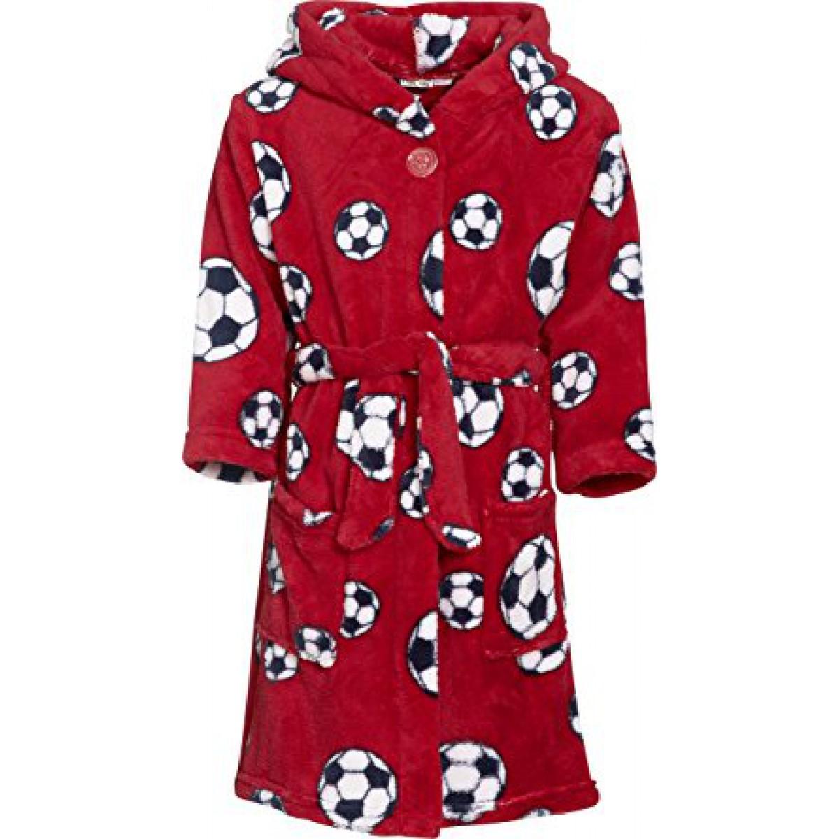 Rode badjas voetbal