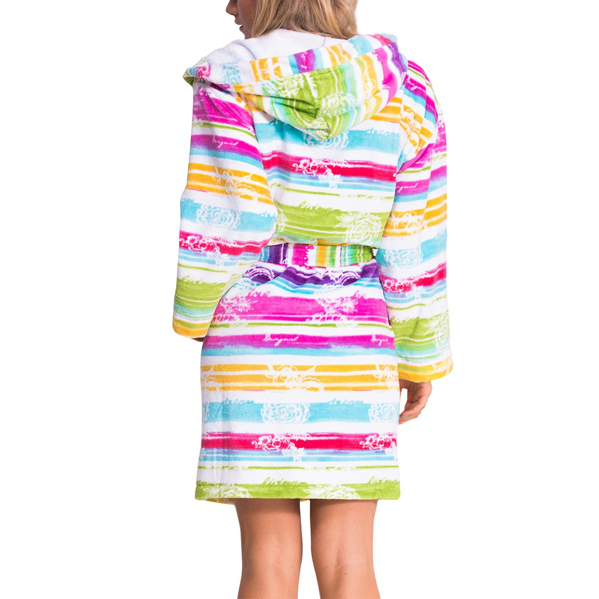 trendy dames badjas kort model