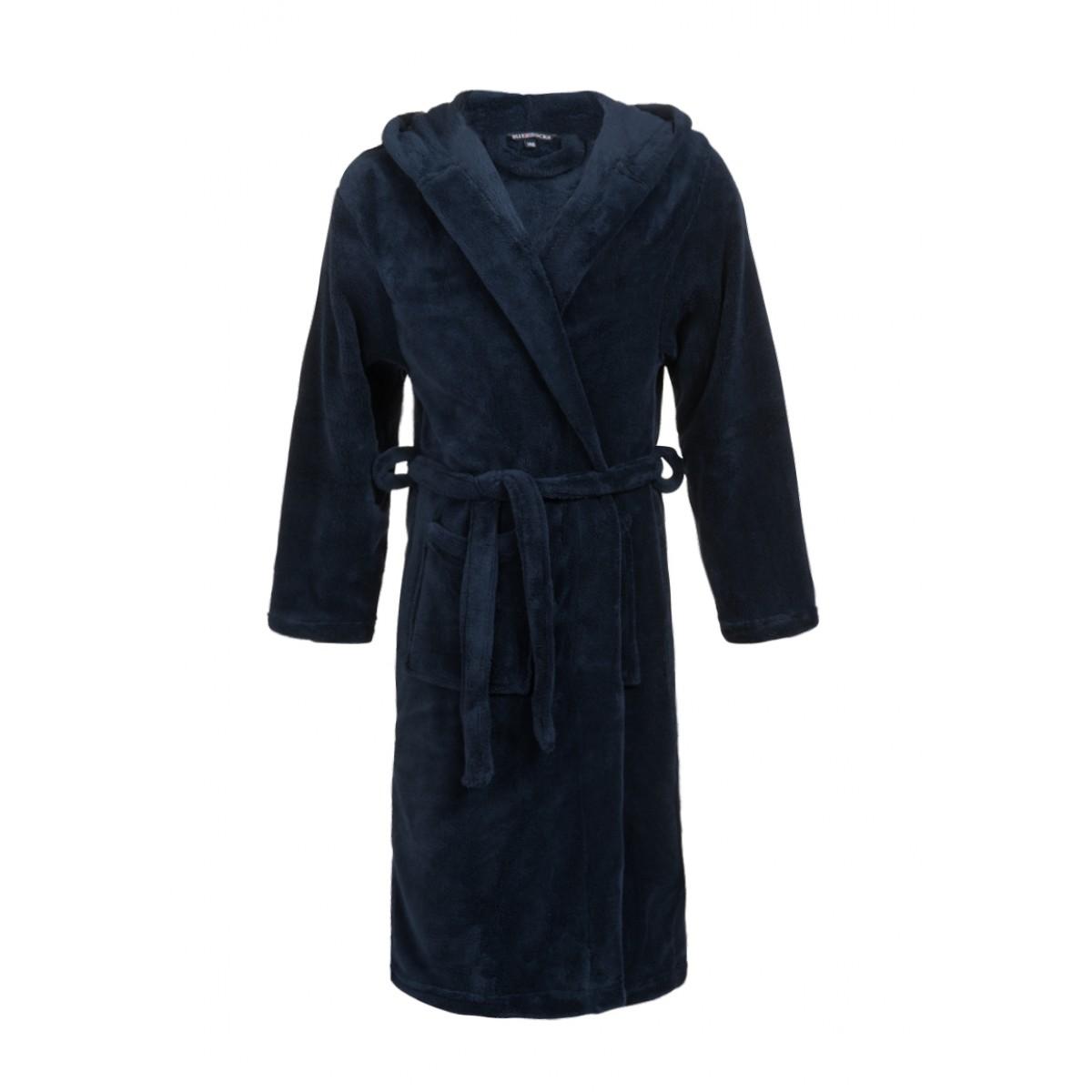 Tiener badjas blauw