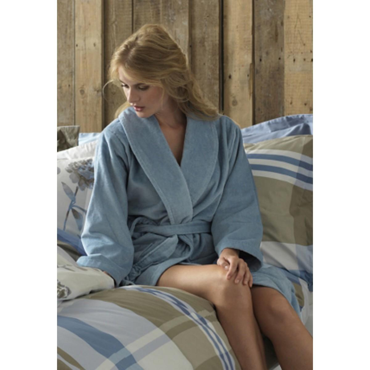 VanDyck badjas ijsblauw