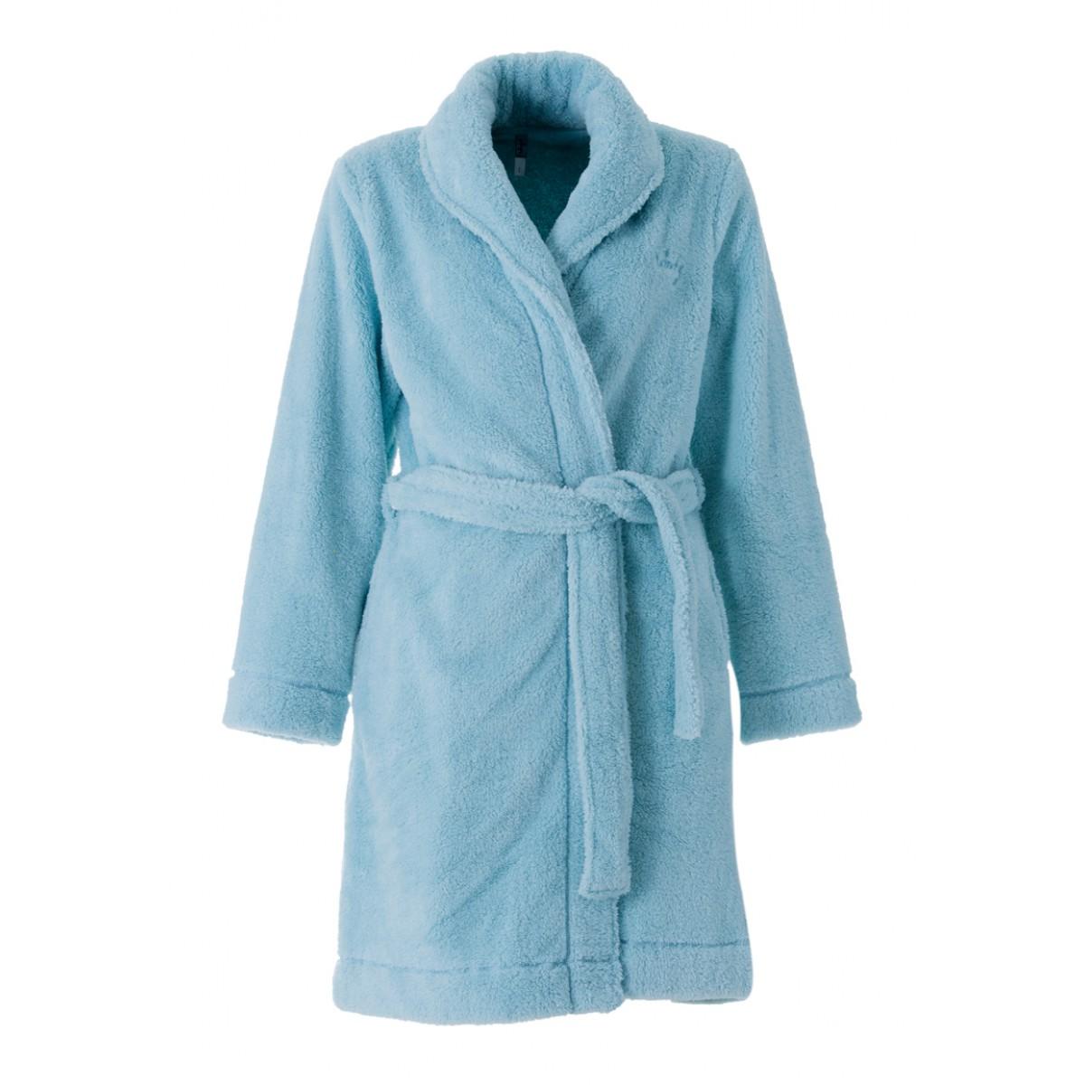 Woody badjas lichtblauw