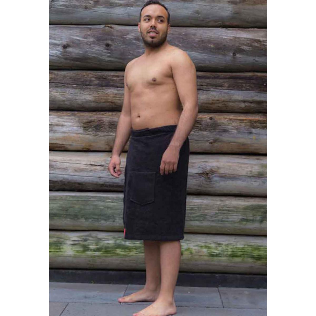 zwarte sauna omslagdoek heren
