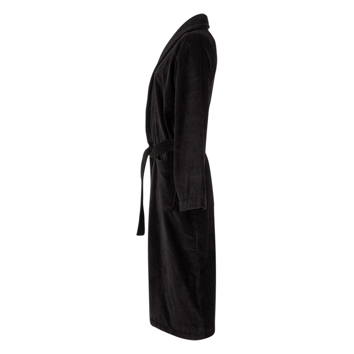 Velours badjas zwart