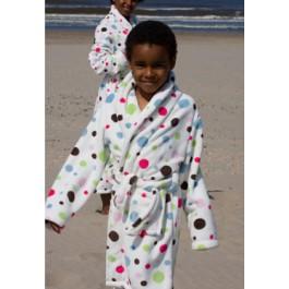 Little multi dottie - kinder badjas