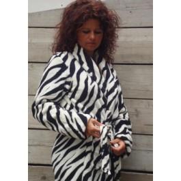 Zebra badjas - Dames badjas