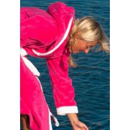 Pink met Capuchon - Dames badjas