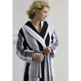 Badjas zwart-wit - badjas katoen