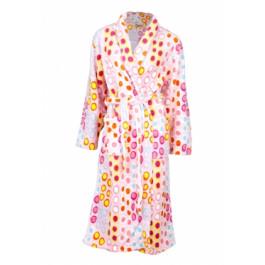 Roze bolletjes badjas / lange badjas Badjas aanbiedingen Tenderness