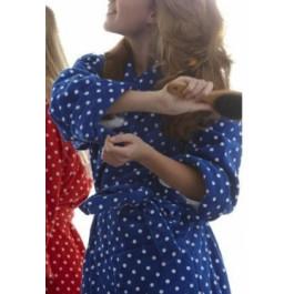 Badjas dames / Cozz badjas blauw
