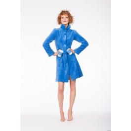 Korte badjas blauw