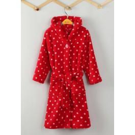 Stippen badjas rood