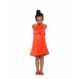 Kinderbadjas Woody badjas oranje