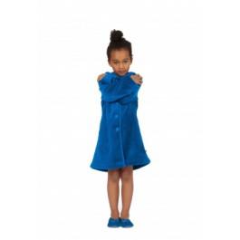 Kinderbadjas Woody kinderbadjas blauw