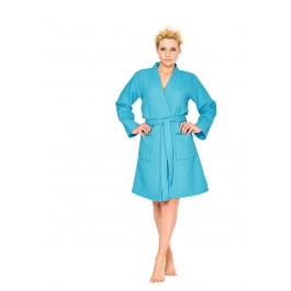 Aquablauwe kimono badjas dames