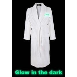 Badjas borduren Glow in the Dark! Badjas met naam BadrockDeLuxe