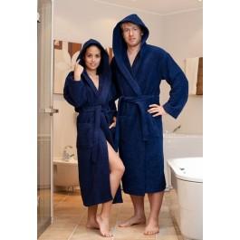 Capuchon badjas blauw 2Xl tot 6XL