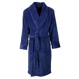 Fleece badjas blauw heren