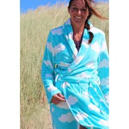 Dames badjas met wolken