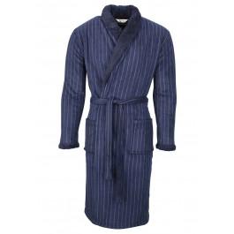 Krijtstreep badjas heren blauw Heren badjassen