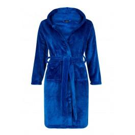 Tiener badjas koningsblauw - maat 134 tot 176
