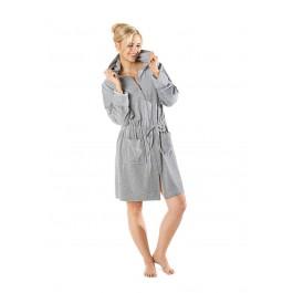 Grijze rits badjas voor dames